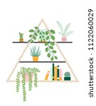 illustration with home plants... | Shutterstock .eps vector #1122060029