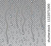 condensation  raindrop on... | Shutterstock .eps vector #1122071300