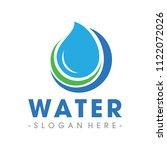 pure water logo vector... | Shutterstock .eps vector #1122072026