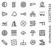 timber and woodworking icons | Shutterstock .eps vector #1122075626