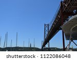 the vasco de gama bridge in... | Shutterstock . vector #1122086048