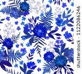 flowers seamless pattern hand... | Shutterstock .eps vector #1122086246