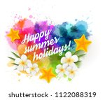 abstract summer background with ... | Shutterstock . vector #1122088319