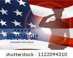 memorial day. greeting card...   Shutterstock . vector #1122094310