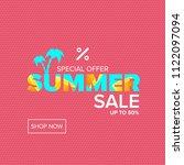 vector summer sale modern...   Shutterstock .eps vector #1122097094