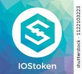 iostoken  iost  vector logo....   Shutterstock .eps vector #1122103223