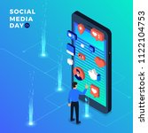 social media day vector... | Shutterstock .eps vector #1122104753