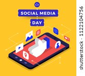 social media day vector... | Shutterstock .eps vector #1122104756