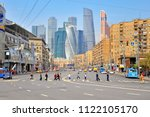 moscow  russia   may 02  people ... | Shutterstock . vector #1122105170