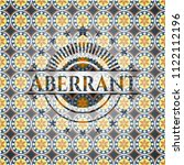 aberrant arabesque badge.... | Shutterstock .eps vector #1122112196