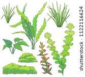 green underwater plants for... | Shutterstock .eps vector #1122116624