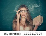 confident and sexy teacher.... | Shutterstock . vector #1122117329