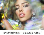 art of seduction. woman with... | Shutterstock . vector #1122117353