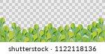 paper cut vector art. grass... | Shutterstock .eps vector #1122118136
