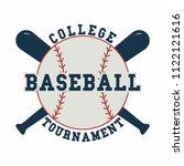 baseball ball. sport emblem.... | Shutterstock .eps vector #1122121616