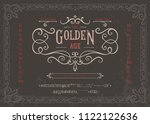 the golden age   textured... | Shutterstock .eps vector #1122122636