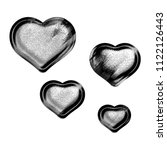 black   white metallic chrome... | Shutterstock . vector #1122126443