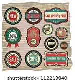 collection of vintage retro... | Shutterstock .eps vector #112213040