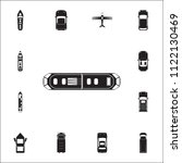 tram icon. detailed set of... | Shutterstock .eps vector #1122130469