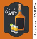 best drink bottle with cup frame | Shutterstock .eps vector #1122131936