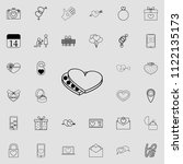 chocolates in the heart icon....   Shutterstock .eps vector #1122135173