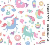 cute seamless pattern of... | Shutterstock .eps vector #1122135596