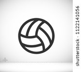 volleyball ball outline vecto | Shutterstock .eps vector #1122141056