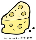 cartoon cheese | Shutterstock . vector #112214279