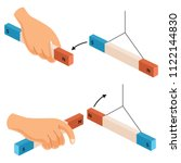 vector illustration of hand... | Shutterstock .eps vector #1122144830
