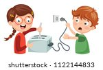 vector illustration of kids... | Shutterstock .eps vector #1122144833