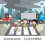 vector illustration of air... | Shutterstock .eps vector #1122144860