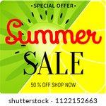 summer sale background layout...   Shutterstock .eps vector #1122152663