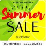 summer sale background layout...   Shutterstock .eps vector #1122152666