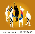 soccer referee yellow red cards  | Shutterstock .eps vector #1122157430