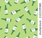 korean alcohol soju bottle... | Shutterstock .eps vector #1122159380