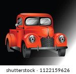 illustration of classic retro... | Shutterstock .eps vector #1122159626