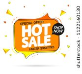 hot sale  special offer  tag... | Shutterstock .eps vector #1122160130