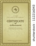 elegant classic certificate of...   Shutterstock .eps vector #112216043