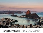 sugarloaf mountain and botafogo ...   Shutterstock . vector #1122172340