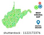 gear west virginia state map... | Shutterstock .eps vector #1122172376