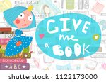 colorful reading book design...   Shutterstock .eps vector #1122173000