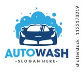 auto wash and clening car logo... | Shutterstock .eps vector #1122173219