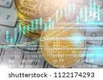 modern way of exchange. bitcoin ... | Shutterstock . vector #1122174293