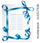 holiday background with blue... | Shutterstock .eps vector #112217528