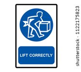 lift correctly symbol sign... | Shutterstock .eps vector #1122175823