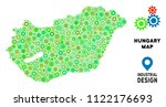 gear hungary map mosaic of... | Shutterstock .eps vector #1122176693