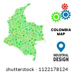 gear colombia map mosaic of... | Shutterstock .eps vector #1122178124