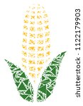 corn mosaic of triangle... | Shutterstock .eps vector #1122179903