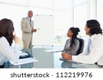 smiling young businessman... | Shutterstock . vector #112219976