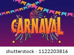 popular event in brazil... | Shutterstock .eps vector #1122203816